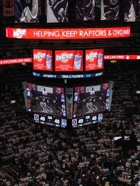Bounce Lint Roller Advertising at Air Canada Centre